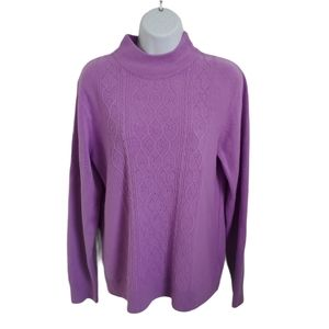 Vintage Tradition Knit Sweater, Beading, Purple, L